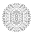 Monochrome black and white lace ornament vector image vector image