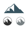 peak mountain logo template vector image