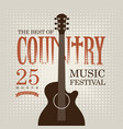 Poster for country music festival with electric