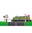 railroad crossing 04 vector image