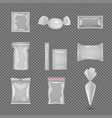 realistic pack templates set vector image vector image