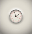 realistic round clock cut out in white background vector image vector image