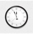 round classic wall clock isolated on transparent vector image