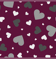 seamless pattern with color hearts - simple vector image vector image