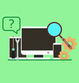 service customer support icon business office vector image