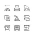 set line icons of print vector image vector image