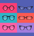 set realistic various spectacles element for your vector image