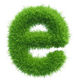 small grass letter e on white background vector image vector image