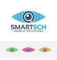 smart search logo vector image vector image