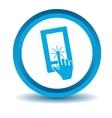 Smartphone touchscreen icon blue 3D vector image vector image