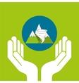 snowy mountains tornado weather concept design vector image vector image