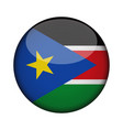 south sudan flag in glossy round button of icon vector image