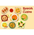 Spanish cuisine lunch icon for food design vector image vector image