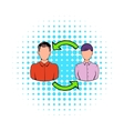 Staff turnover concept icon comics style vector image vector image