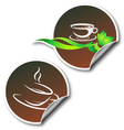 sticker with coffee cup vector image