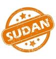 Sudan grunge icon vector image vector image