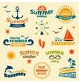 summer element label set vector image vector image