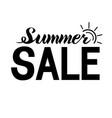 summer sale lettering vector image vector image
