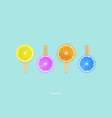 sweet colorful fruit background design vector image vector image