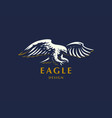 the flying eagle vector image vector image