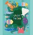 under sea world with different inhabitants vector image