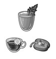 vegetarian dish monochrome icons in set collection vector image vector image