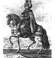 vintage engraving ottoman sultan vector image vector image
