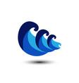 wave logo image design template vector image vector image