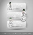 Winter stickers with snowman design elements vector image vector image