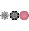 Set of Mandala for coloring book Black white vector image