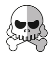 Isolated skull cartoon design vector image