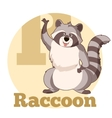 ABC Cartoon Raccoon3 vector image vector image