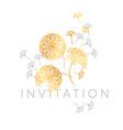 abstract geometric dandelion flowers vector image vector image