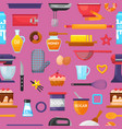 baking kitchenware and food bakery vector image
