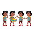 black afro american boy kindergarten kid poses vector image vector image