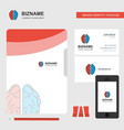brain business logo file cover visiting card and vector image vector image