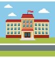 building school back education place vector image