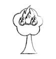 burning tree cartoon vector image