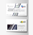business card templates cover template easy vector image