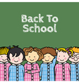 children in school vector image vector image