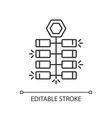 chinese firecrackers linear icon vector image