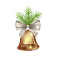 christmas bell decoration vector image vector image