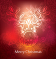 christmas postcard design vector image