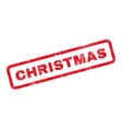Christmas Text Rubber Stamp vector image vector image