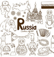 collection russia icons vector image