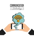communication technology design vector image vector image