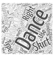 dance skirts Word Cloud Concept vector image vector image