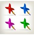 Darts 4 colors vector image