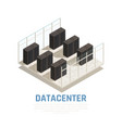 datacenter concept vector image vector image