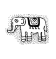 Decorative elephant silhouette African style vector image